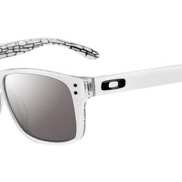 Oakley Mens Holbrook LX Asian Fit Sunglasses, White/Slate Iridium, One Size