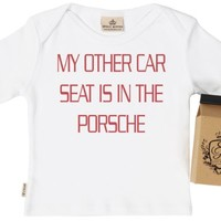 Spoilt Rotten Unisex-baby Other Car Seat In Porsche Organic T-Shirt