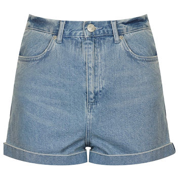 MOTO Bright Blue Mom Shorts