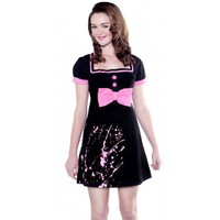 PAPERDOLL WHO ME DRESS PINK SPLATTER - Dresses - Gals