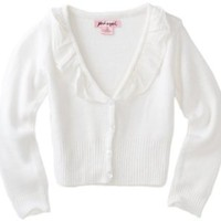 Pink Angel Girls 7-16 Ruffle Edge Sweater