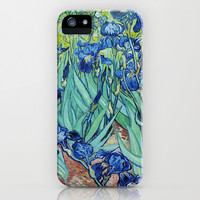 Irises, Vincent van Gogh. Famous vintage impressionism floral oil painting fine art. iPhone & iPod Case by NatureMatters