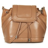 Topshop Suede & Leather Duffle Bag