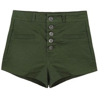 A-matching High Waist Shorts - OASAP.com
