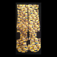 Despicable Me Minions Custom Nike Elite Socks