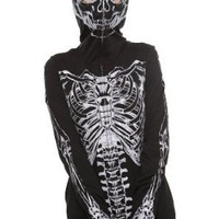 Glow-In-The-Dark Skeleton Full Zip Hoodie