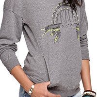 Kendall and Kylie Forward Side Seam Pullover Fleece at PacSun.com