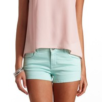 REFUGE SIDE-ZIP HIGH-WAISTED SHORTS