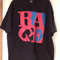 VTG 90's Oversize Black Rage Against the Machine T-Shirt (XL)