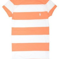 Ralph Lauren Sport Women Pony Logo Striped T-shirt