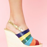 Chica Chola Platform Wedge - Rainbow in Shoes at Nasty Gal