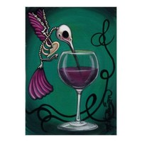 """Hummingbird Skelly Wine"" Posters, Prints, Frames"