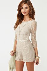 Lace Cutout Romper in  Clothes at Nasty Gal