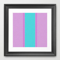 Re-Created Interference ONE No. 25 Framed Art Print by Robert S. Lee