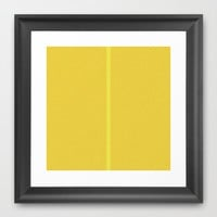 Re-Created Interference ONE No. 28 Framed Art Print by Robert S. Lee