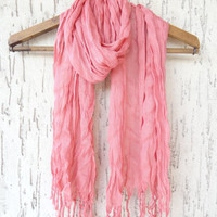 Handwoven infinity scarf,  Light Coral Scarves, Natural,Organic Scarf, Fashion accessories, Women Scarves