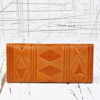 Leather Geo Embossed Purse in Tan - Urban Outfitters