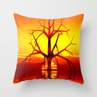 Solo Sun Throw Pillow by Webgrrl | Society6