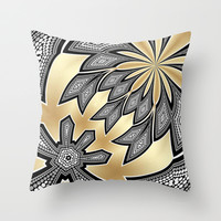 Pointillism Tribal fusion Throw Pillow by Webgrrl | Society6