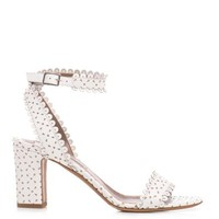 Leticia scalloped-edge sandals