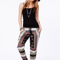 Missguided - Roesia Printed Tapered Trousers