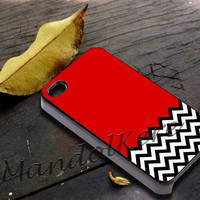 Welcome to twin peaks chevron Cover - iPhone 4 4S iPhone 5 5S 5C and Samsung Galaxy S3 S4 Case