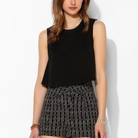 Ecote Fold-Over Waistband Soft Short - Urban Outfitters