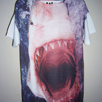 Shark Shirt Jaws Tshirt Animal T-Shirt Fish Shark T Shirt Animal T-Shirt Men T Shirt Women TShirt Top Medium Tee Unisex T-Shirt M