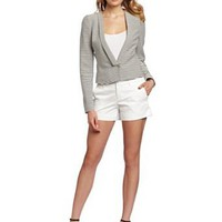BCBGMAXAZRIA Women's Hendrix Striped Ottoman Jacket