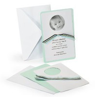 Cathy's Concepts Circle Baby Photo Announcement and Ribbon Kit
