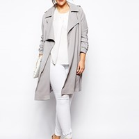 ASOS CURVE Trench With Zip Detail