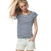 Open-Back Stripes & Daisies Boxy Tee