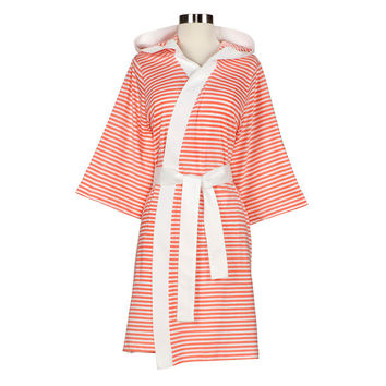 I liked this design on #Fab. Stripe Robe White And Rose