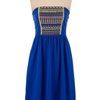 high-low bead embroidered tube dress