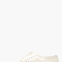 CREAM PATENT ZIZI FLEURI BROGUED OXFORDS