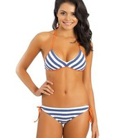 Women's Designer Swimwear | 2014 Splendid Swimwear | Blue Bikini Top