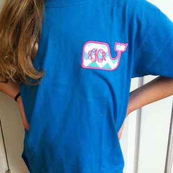 Whale Monogrammed Short Sleeve T-Shirt - vineyard vines inspired