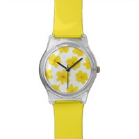 Flowering #8 - Yellow Flowers Wrist Watch