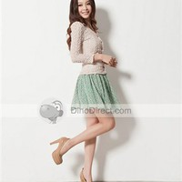 WYWL Fashionable Daisy Printing Chiffon Women Skirt