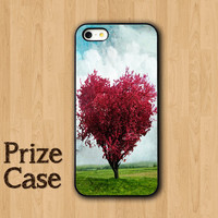 Red HEART IPHONE 5S CASE Love Sepia Tree with Nature iPhone Cases iPhone 5 Case iPhone 4 Case Samsung Galaxy S4 Cover iPhone 5c iPhone 4s