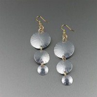 Sand Dollar Earrings - Three-tiered