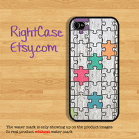Jigsaw PUZZLE IPHONE 5S CASE Funny White Wood iPhone Case Deep Blue Sea Phone 4S iPhone 5C Case Samsung Galaxy S4 S3 iPhone 5 iPhone 4 Cover