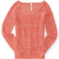 OPEN STITCH RAGLAN SWEATER