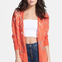 Leith Open Front Burnout Cardigan | Nordstrom