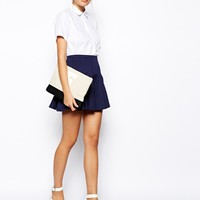 ASOS Mini Skirt in Scuba with Flippy Hem