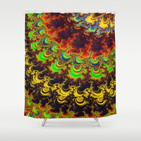 Bright Rainbow Fractal  Shower Curtain by OCDesigns_PwinArt