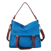 Large Buckle Cross Body Fold Over Shoulder Bag Satchel