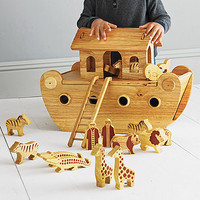 Wooden Noah's Ark And Animals