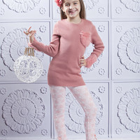 Pink & Crème Fluffy Tunic & Rose Leggings - Toddler | something special every day
