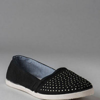 PINK AND PEPPER SHOES, HOOPLA CRYSTAL STUDDED FLAT